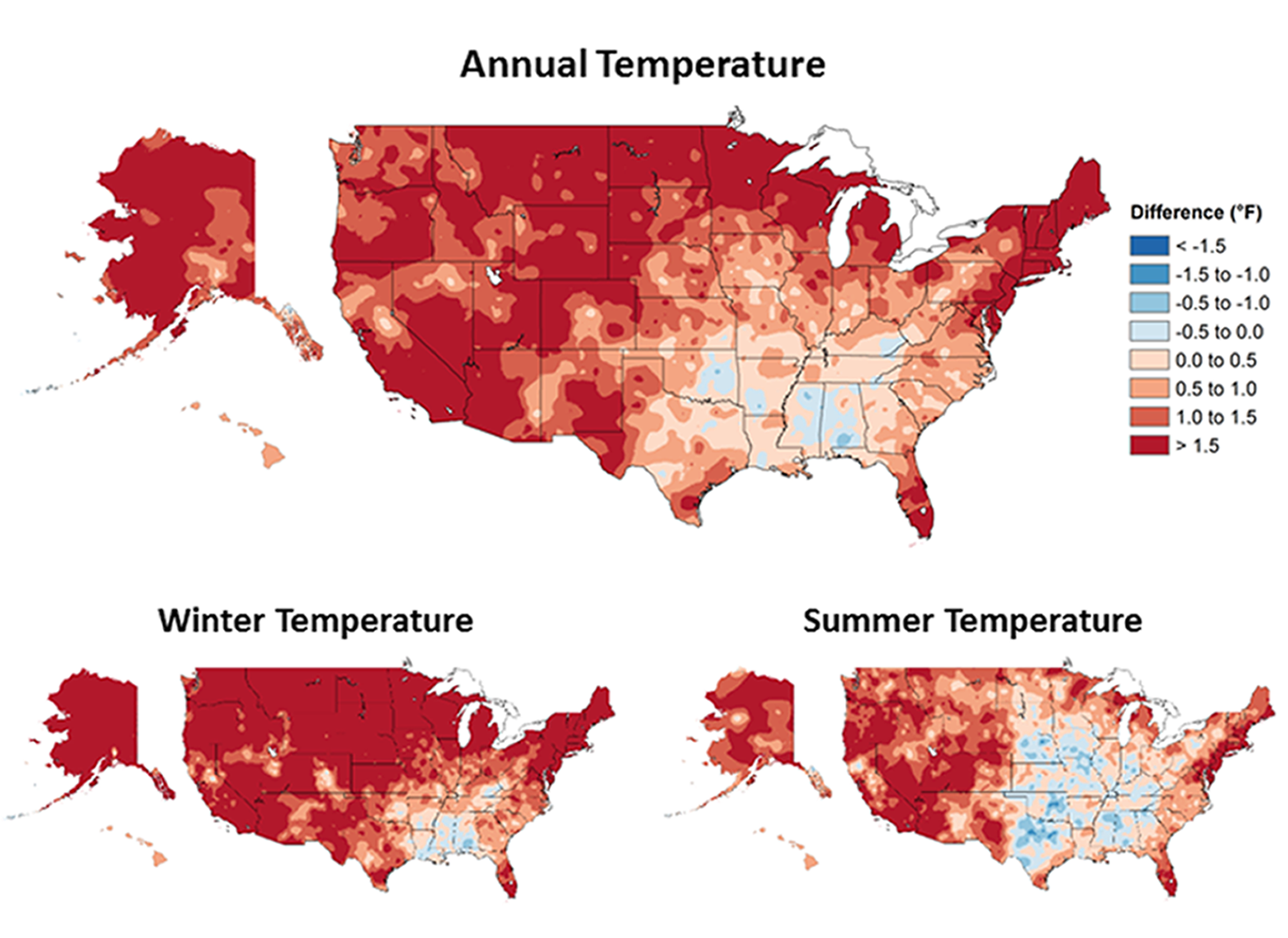 Temperature Changes in the United States - Climate Science ...